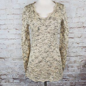 Mystree Crochet Knit Marl Tunic Sweater M EUC
